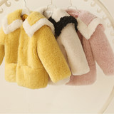 Children's fur 2019 new winter girl sand thick cotton clothes foreign air warm children's cotton wool baby medium long coat