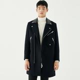 GXG男装 商场同款双色长款大衣#174226585