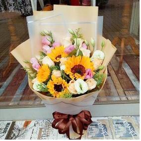 同城花店送向日葵韩式花束生日礼物鲜花速递长沙市星沙县望城县