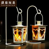 Shengquan romantic warm retro European candlestick wedding home decoration iron electronic candle candle stick