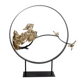 Modern new Chinese-style Xuanguan Cabinet Restaurant Hotel Lobby Zen Sculpture Decorative Art Jewelry Bird Animal Ornament