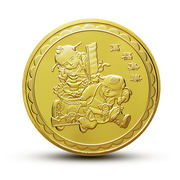 Lucky Fortune 2019 has a zodiac pig mascot gold-plated commemorative coin New Year's Eve creative gift coin