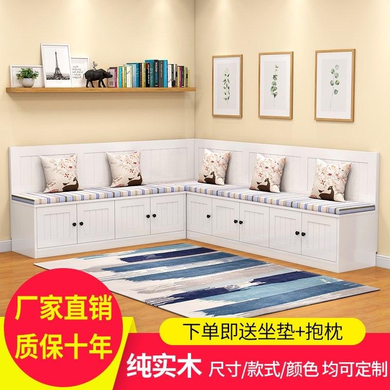 实木卡座沙发家用储物小户型餐厅桌椅卡座咖啡厅沙发组合转角定制