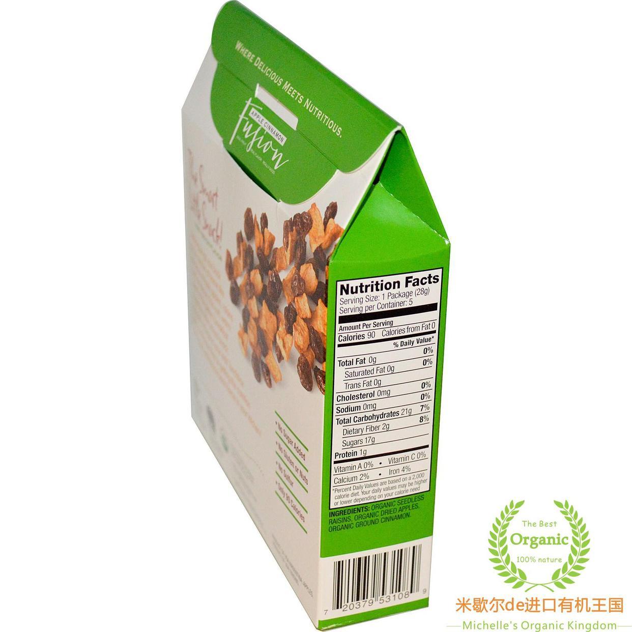 Made in Nature Organic Dried Fruit苹果葡萄干肉桂混合进口果干