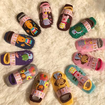 秋冬儿童地板袜防滑点胶0-1-3岁宝宝袜套早教学步鞋纯棉加厚船袜