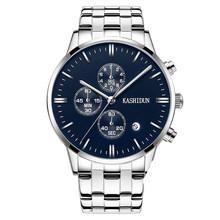 卡诗顿正品新款石英手表皮带男表防水商务男士学生钢带男士手表