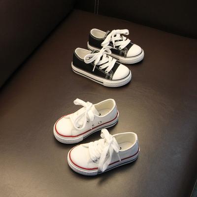 儿童帆布鞋潮版系带男童布鞋百搭1-3-6岁小童宝宝鞋子女童帆布鞋