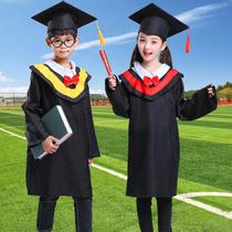 女童女生拍照幼儿园博士服毕业礼服春季服装特色演出创意小孩留念