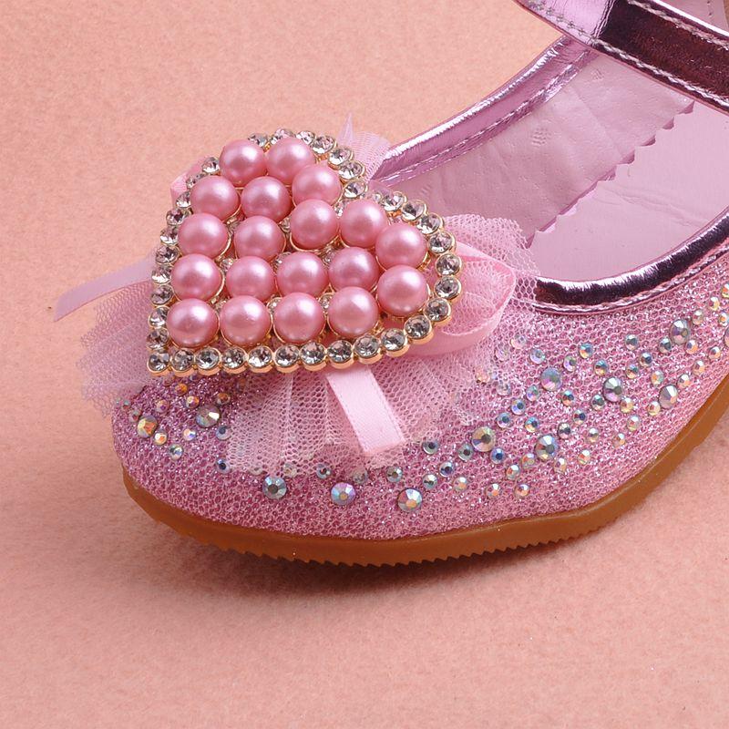 上新特价儿童高跟鞋 2017新款秋季小女孩公主鞋女童皮鞋高跟单鞋