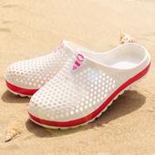 包头运动沙滩透气漂流凉鞋 超轻男女潮拖鞋 夏季镂空户外鸟巢洞洞鞋