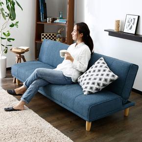实木小户型简约多功能可折叠客厅两用双人三人沙发1.8米2米沙发床