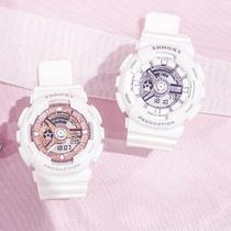 限时特价帆布手表男女通用防水尼龙帆布带手表创意绿茶渐变手表
