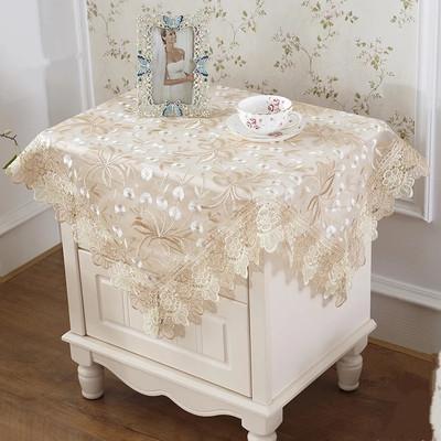 防尘布床头柜盖布冰箱盖巾电视空调洗衣机罩盖巾蕾丝布艺桌布欧式双十二