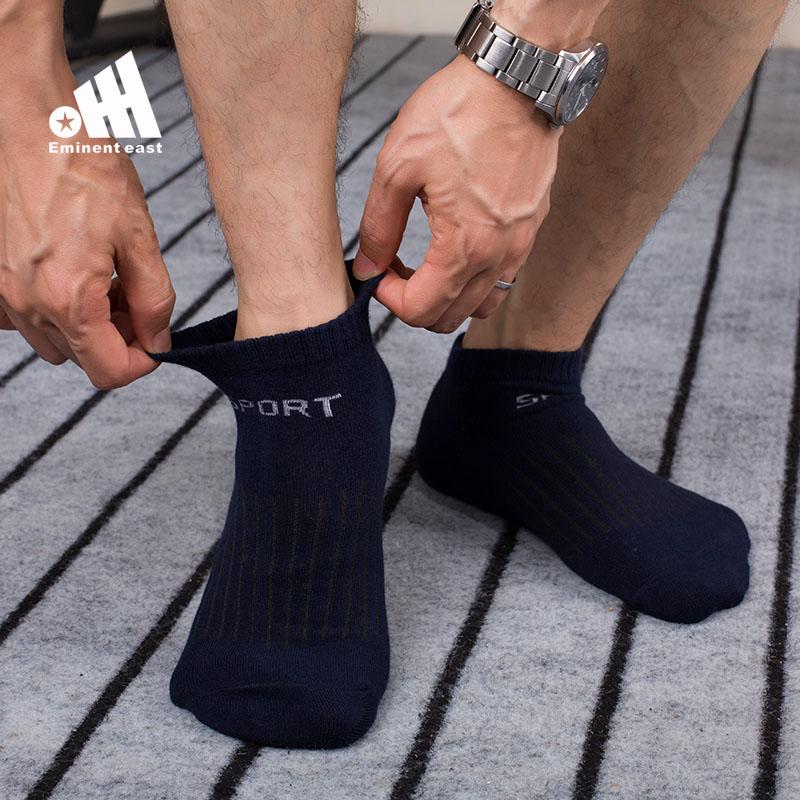卓东船袜男纯色间条吸汗短袜黑色学生运动袜薄款大码袜子男短袜夏