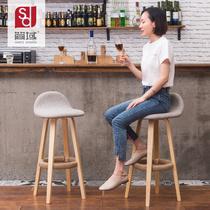 吧椅原始会所巴台桌铁艺高脚桌椅家用办公室茶水间吧台凳