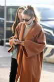2019春新款毛呢大衣羊毛加厚超廓形欧美明星Gigihadid同款土橘色