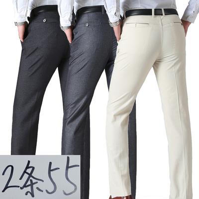 爸爸裤子春夏季中年男裤中老年宽松长裤薄款男士西裤休闲裤男短裤