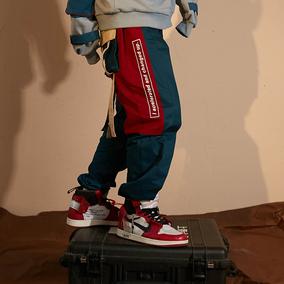 【FLAM 官方网店】嘻哈潮牌国潮 FYP 多口袋印花织带宽松工装裤男