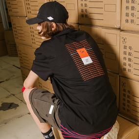 【FLAM 官方网店】嘻哈街舞潮牌国潮 飘带机能口袋印花短袖T恤