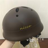 萌到不行 日本代购 日本宝宝滑行扭扭车平衡车溜溜车儿童头盔nicco