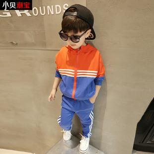 童装男童加绒加厚运动套装秋冬季2017新款韩版宝宝儿童服装3-5岁4