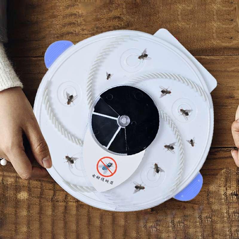 捕蝇器灭蝇神器家用电动杀手抓捉驱苍蝇机一扫全自动光诱消去旋转