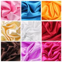 绸缎布料面料缎面色丁绸子内衬里布丝绸大红布批发清仓碎布头绸布