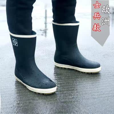 雨鞋男夏季胶鞋防水套鞋钓鱼鞋韩版时尚防滑雨靴摩托车中筒水鞋女