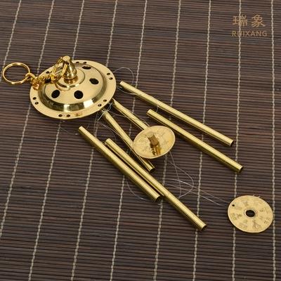 瑞象纯铜风铃挂饰门饰金属纯铜六管创意客厅阳台窗台家居风水挂件