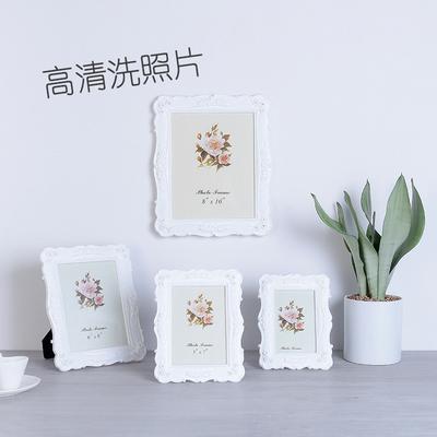 6寸7寸8寸10寸白色欧式洗照片加相框组合创意照片框摆台现代简约