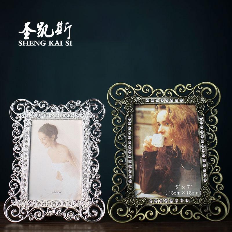 相框白色现代铜色相架礼物复古婚纱照
