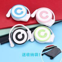新款耳机迷你插卡MP3挂耳mp3播放器学生随身听P3头戴耳挂式mp3