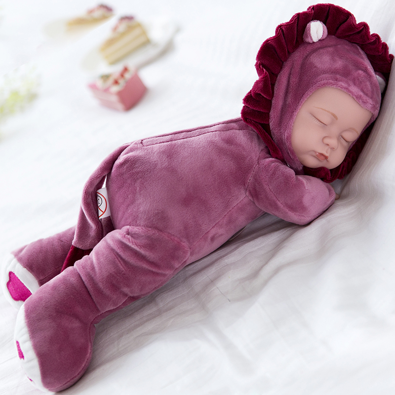 儿童仿真娃娃会说话的洋娃娃安抚陪睡布娃娃婴儿睡眠娃娃女孩玩具