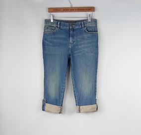 欧美外贸原单 微瑕疵女式加肥加大码胖MM高腰牛仔裤 卷边七分裤