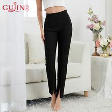古今秋季黑色红色简洁纯色单层柔软贴肤时尚打底裤女3K158图片