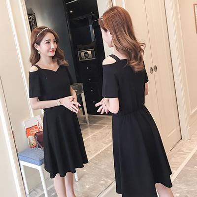 2018夏装新款时尚产后显瘦哺乳裙吊带露肩孕妇连衣裙女喂奶衣外出