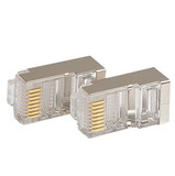 Sanbao Six Gigabit Shielded Network Crystal Head RJ45 Wire Connector Two-piece Set 100/Box
