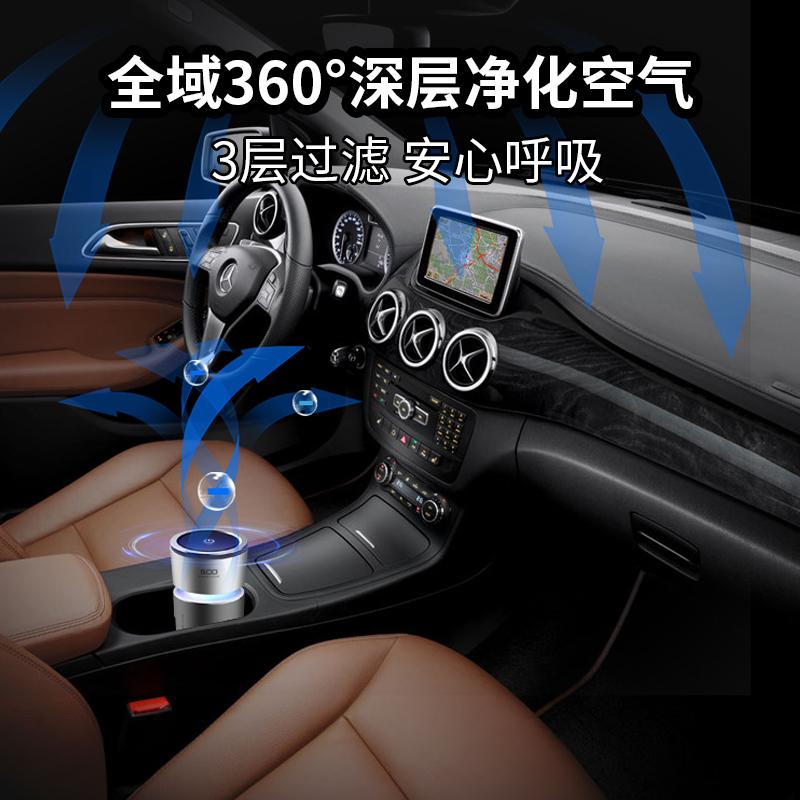 汽车车载空气净化器车内用品车用消除异味除甲醛PM2.5负离子氧吧