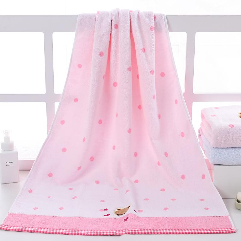 小熊纯棉浴巾