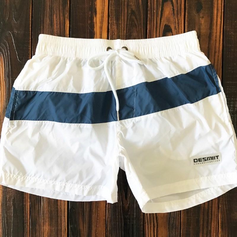 代购夏季三分裤学生抽绳速干情侣游泳裤运动沙滩短裤男女膝盖上潮