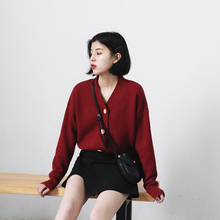 CHICVEN Self-Made New Spring Garment 2009 Retro V-Collar Slender Knitted Sweater Opener with Hundred Short Jackets