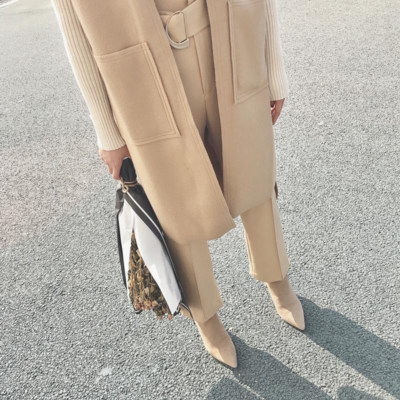 磨砂皮裸色女靴子米色高跟短靴女卡其色2017杏色尖头粗跟及踝靴