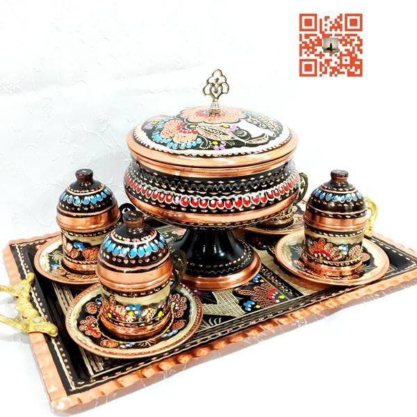 土耳其进口手工制作奥斯曼特色彩绘紫铜铜器 糖盘 果盘 糖罐 糖缸