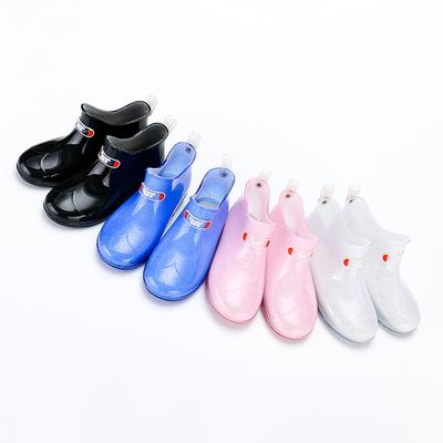 儿童雨鞋防滑男童女童雨靴公主小童小孩宝宝四季水晶水鞋中童大童