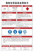 危险化学品安全周知卡 酒精 企业工厂警示标志识牌贴纸 乙醇