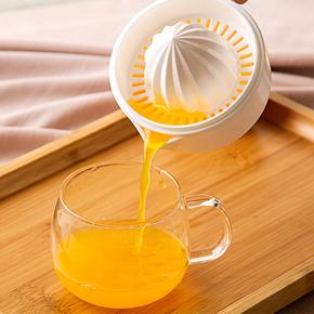 日本进口家用手动榨汁机橙子柠檬水果简易榨汁器塑料压汁器果汁