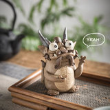 Qi Twelve Shanhai Jingmeng version of Baxia Dragon Tortoise incense stove line fragrant insert tea table pet decoration dragon fine products can feed mink