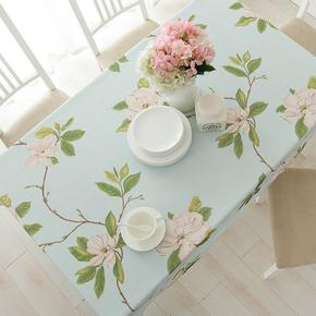 桌布布艺棉麻田园风格餐桌布小清新长方形亚麻台布茶几布书桌盖巾