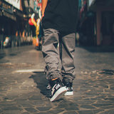 Wildstyle stretch pants dark gray street dance bboy hiphop performance class service street card