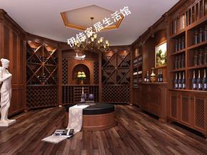 工厂定制美国红橡木实木红酒柜酒窖恒温酒窖别墅酒窖